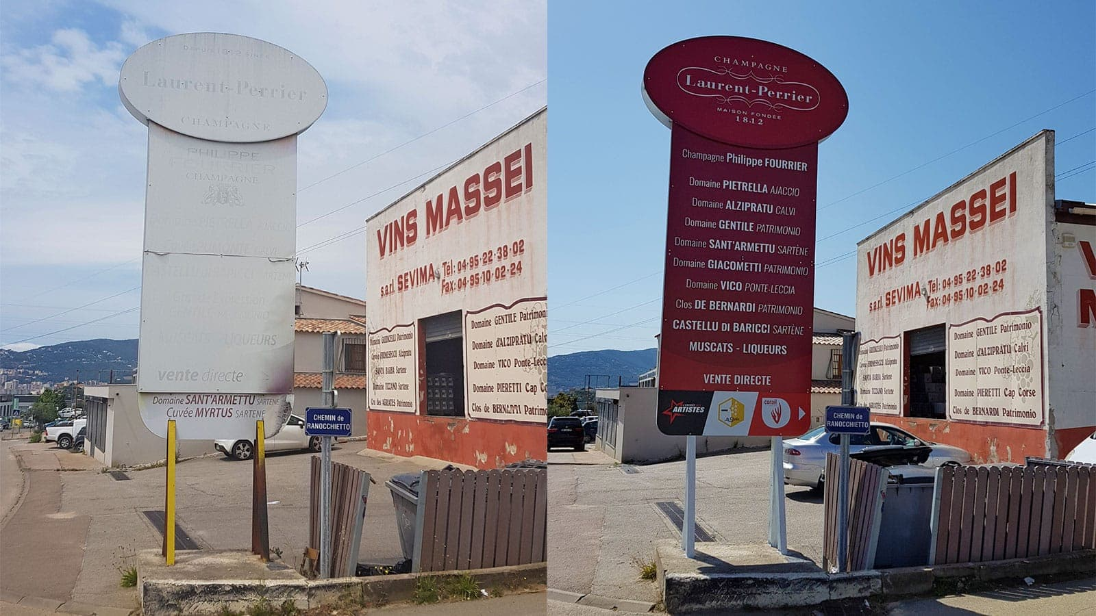 A new sign for Massei wines retail