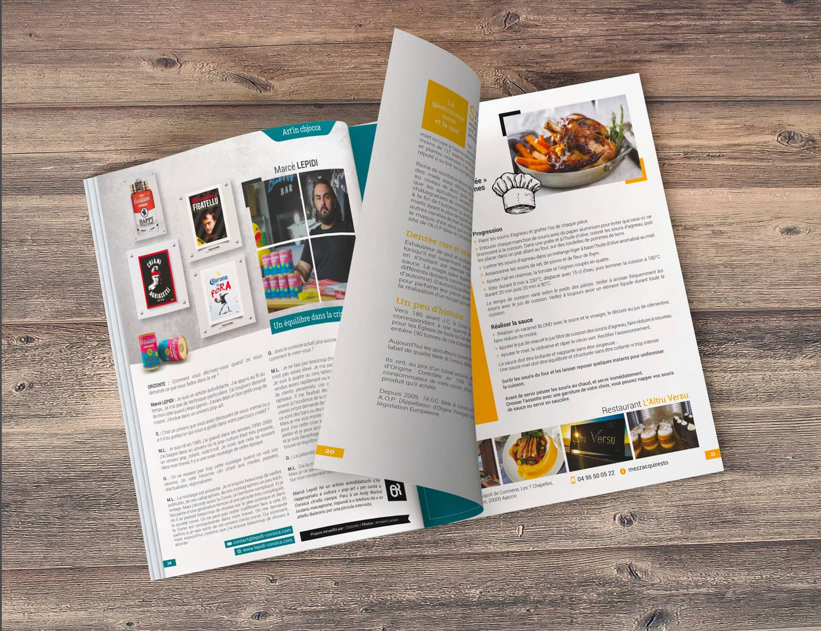 Mockup magazine Orizonte